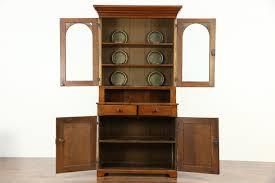 sold pennsylvania walnut 1850 u0027s antique bookcase or cupboard