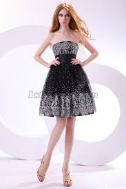 elegant black and silver short junior prom dresses 1st dress com