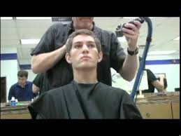 can you get a haircut where you can wear it as a bob and flipped air force bmt first hair cut youtube