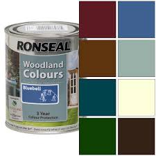 ronseal exterior wood paint woodland trust colours 750ml ebay