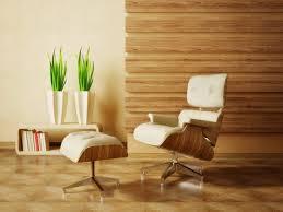 Round Fur Rug by Living Room Wood Interior Walls Grey Shade Pendant Lighting Blue