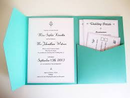 how to make wedding invitations green pocket invitation with white