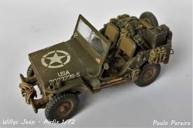 dark brown jeep airfix a02339 willys british airborne jeep 1 72