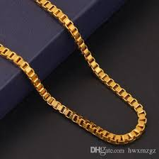 box chain gold necklace images 2018 18k gold plated square chain gold necklace female box chain jpg