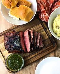 roast with chimichurri kellie rice cakes