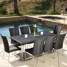 Wicker Patio Dining Sets Fairfield 9 Piece Outdoor Dining Set By Christopher Knight Home