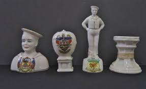arcadian china crested china four naval items comprising an arcadian china sailor