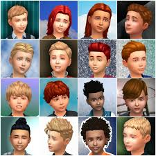 child bob haircut sims 4 boys hairstyles by mystufforigin the sims 4 parted flat for