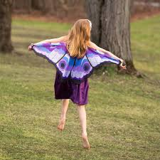 kids halloween costume fanciful fabric butterfly wings