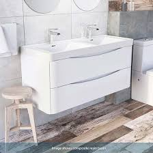 double sink wall hung vanity unit harbour clarity 1200mm wall mounted double basin vanity unit gloss