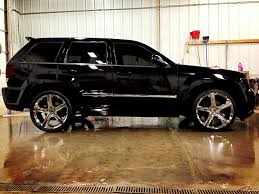 lowered jeep grand cherokee custom jeep srt8 carbon fiber all around lowered custom rims