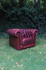Deep Armchair Leather Antique Style Armchairs Ebay