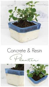 diy concrete and resin planter resin crafts