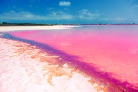 pretty in pink lakes with amazing colour