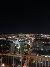 time lights picture of stratosphere tower las vegas