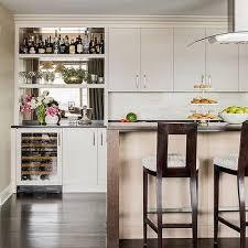 kitchen bar mirrored backsplash design ideas
