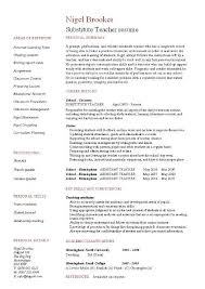 Teachers Resumes Samples by Unique Layout Of Substitute Teacher Resume Sample Featuring Key