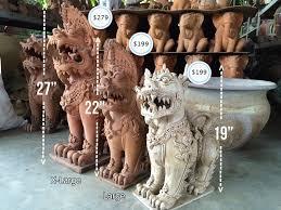 foo dogs statues thai foo dogs singha ceramic statues in pair foo dogs for sale