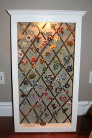 Jewelry Wall Hanger Vintage Brooch Display The Completed Display Case Still Need To
