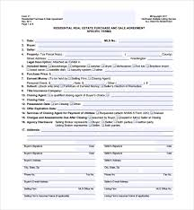 Estate Deal Sheet Template Sle Estate Purchase Agreement Template 9 Free Documents
