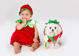 Childrens Animal Halloween Costumes by Cute Baby And Dog Halloween Costume Ideas Glamour