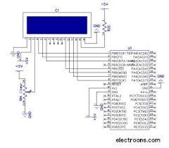 electroons com 16x2 alphanumeric lcd interfacing avr tutorials