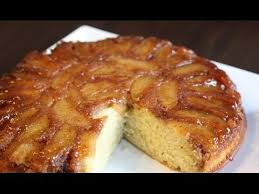 apple upside down cake recipe easy youtube