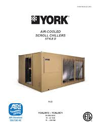 york aircooled scroll chiller heat exchanger building automation