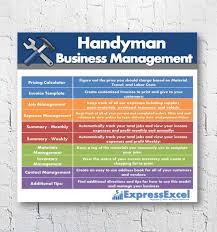 Spreadsheet Jobs Handyman Repairman Business Management Software Job Pricing