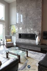 tile 2 storey fireplace sherwin williams repose gray