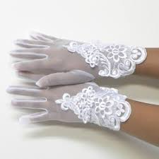 communion gloves fancy flower or communion white gloves 8 12yrs