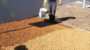 Pea Gravel And Epoxy Patio by Pour On Gravel Binder By Stoneset Youtube
