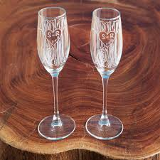 stemless champagne flutes etched champagne flutes set of 2 custom glass uncommongoods