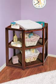 Changing Table Storage Badger Basket Corner Changing Table Cherry