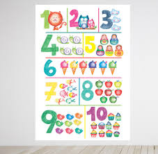 numbers wall decal 123 wall sticker educational wall art kids numbers wall decal 123 wall sticker educational wall art kids wall decals