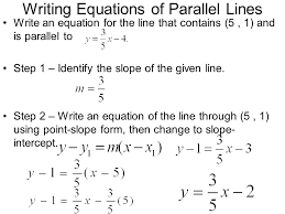 finding equation of a line given slope and one point worksheet