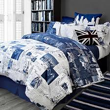 Bedding At Bed Bath And Beyond Bedlam Passport Reversible Duvet Cover Set In Blue Bed Bath U0026 Beyond