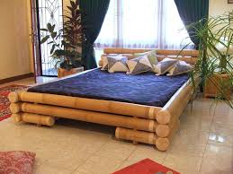 eco friendly bedroom furniture eco friendly bamboo bed frame and blue bedding also white grey