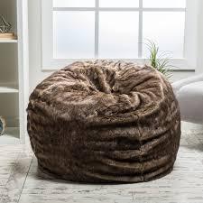 amazon com meridian bean bag chair plush faux fur chair