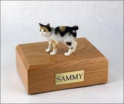 cat cremation japanese bobtail tort white cat figurine urn memorial urns