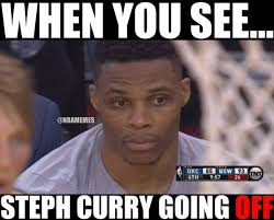 Curry Memes - nba memes on twitter russell westbrook watching stephen curry