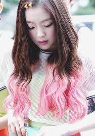 popular kpop hair colours red velvet irene s two tone hair kpop korean hair and style
