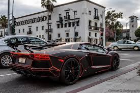 Lamborghini Aventador Neon - black tron lamborghini aventador rear side angle sssupersports