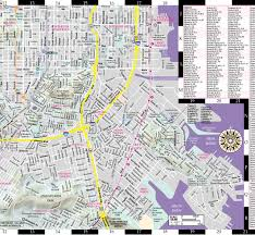 san francisco map streetwise san francisco map laminated city center map of