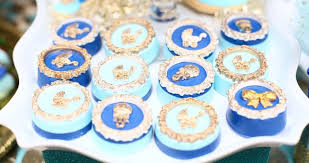 royal blue and gold baby shower kara s party ideas royal baby shower