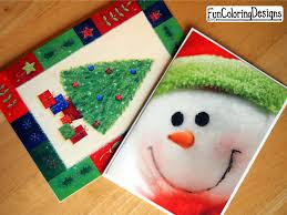 diy upcycle old christmas cards holidy ideas fun coloring designs