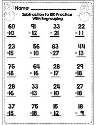 48 best 2 digit practice images on pinterest math activities