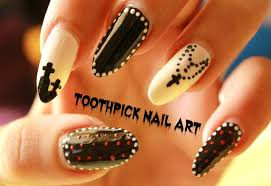 simple nail art design using toothpick nails nail art tutorial
