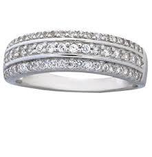 Cubic Zirconia Wedding Rings by 1 Carat Cubic Zirconia Wedding Ring Band For Women In Sterling