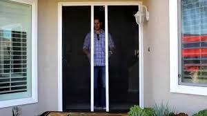 single garage screen door stowaway retractable screen doors by classic improvement products